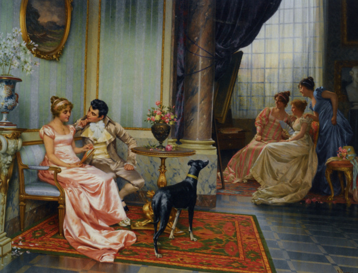 В эпоху галломании с дамами на чистом русском не говорили. /Фото: cp12.nevsepic.com.ua