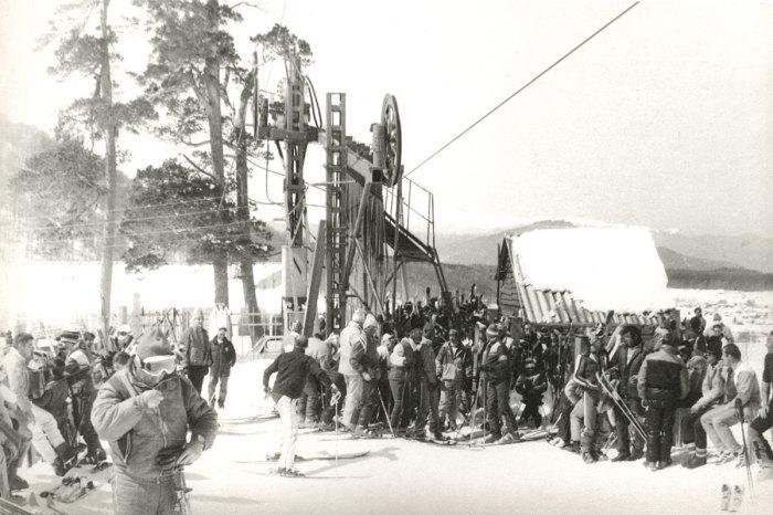 Нижняя станция подъёмника Татрапома на Кохте в Бакуриани, 1987 год. /Фото: sport-marafon.ru
