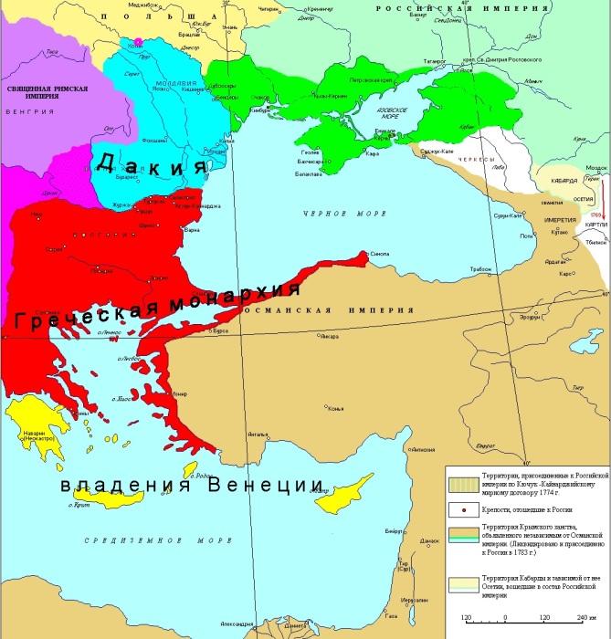 Греческий проект, как его представлял себе Иосиф II./Фото: rushist.com