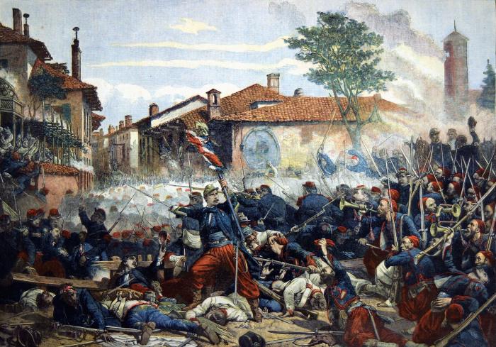 Франко-австрийская битва при Сольферино, 1859. /Фото: ic.pics.livejournal.com
