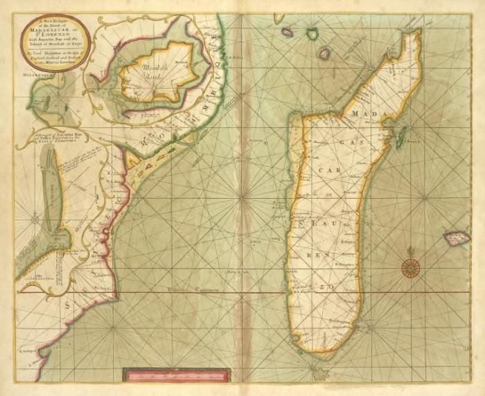 Карта острова Мадагаскар. Создана между 1702 и 1707 г. /Фото: avatars.mds.yandex.net