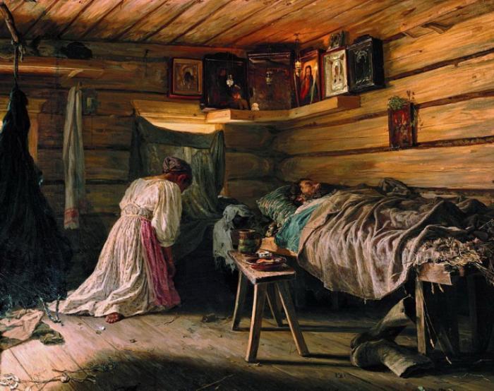 Родственники должны были дежурить около умирающего день и ночь. /Фото: 1olestnice.ru