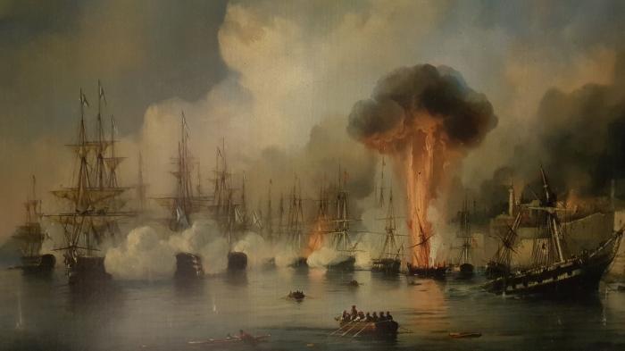 Уничтожение турецкого флота в Наваринском сражении. /Фото: regnum.ru