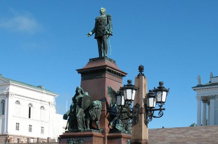 Памятник Александру II в Хельсинки./Фото: gazeta-licey.ru