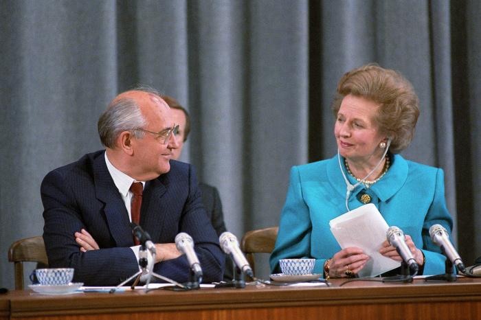 Михаил Горбачёв и Маргарет Тэтчер./Фото: img.gazeta.ru