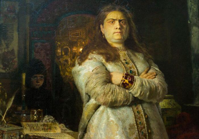 Первой из царского терема вырвалась  царевна Софья Алексеевна. /Фото: history.com.ru