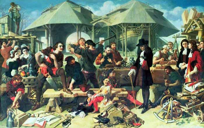 Лондон, увиденный Петром I, был крупнейшим городом мира насчитывающем 700 тысяч человек жителей, порт Лондона в 1698 году принял более 14 тысяч кораблей./Фото: ostrojnik.ru
