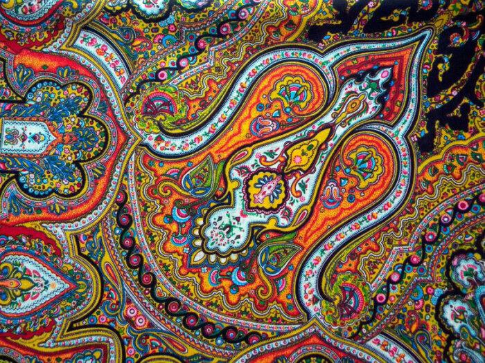 Павловопосадский платок с индийским огурцом. /Фото: img-fotki.yandex.ru