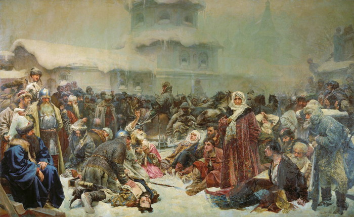 Клавдий Лебедев. Уничтожение новгородского веча./Фото: eurocles.com