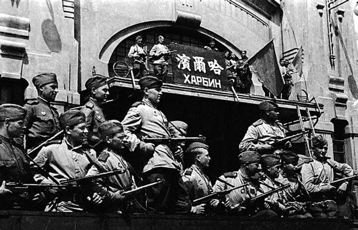 Советский десант в Харбине./Фото: ic.pics.livejournal.com