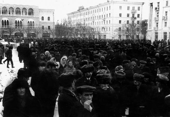 Митинг ингушей. 1973 год./Фото: khamarzkostoev.files.wordpress.com