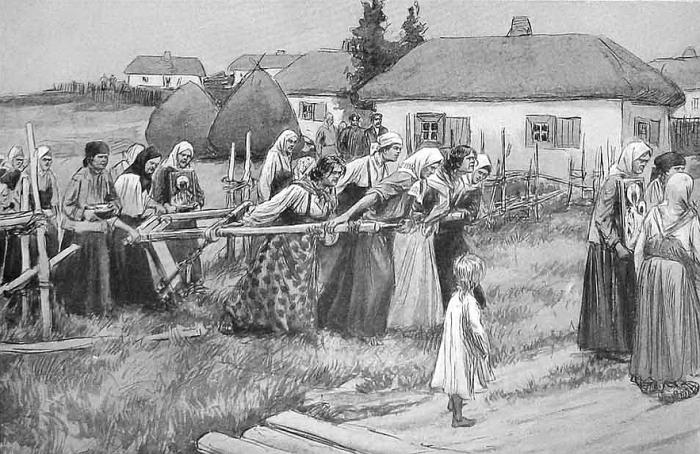 Опахивание села от холеры./Фото: img.rg.ru
