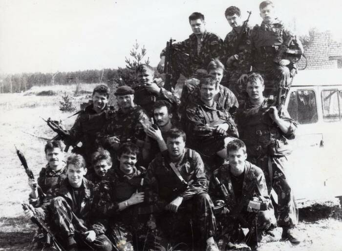 Омоновцы на базе в августе 1991-го. /Фото: phototass4.cdnvideo.ru