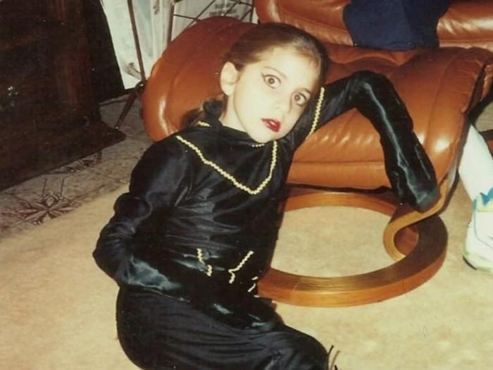 Леди Гага в детстве./Фото: funny24.ru