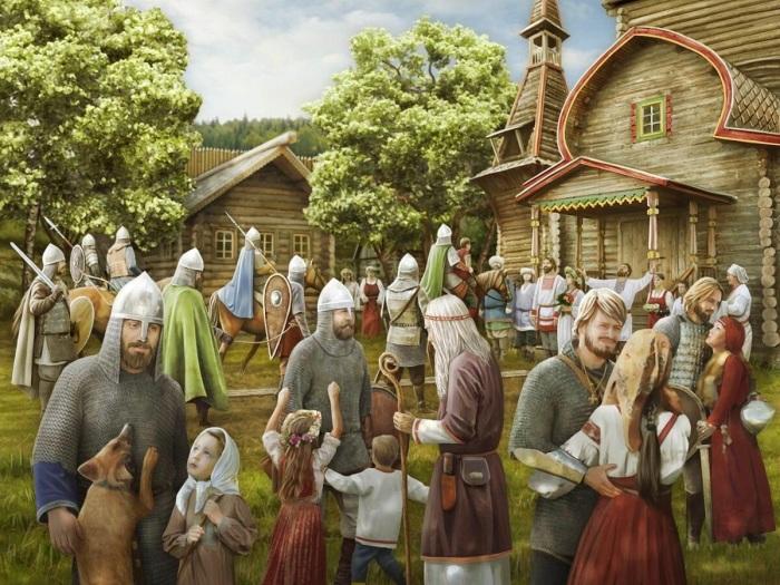 Изображение средневековых славян. /Фото: culture.ru