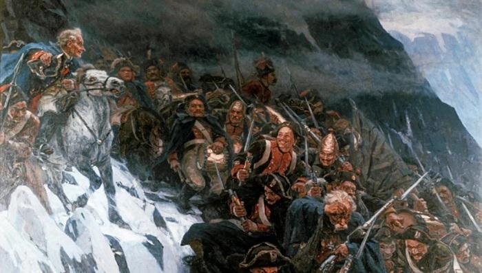 Поход Суворова через Альпы./Фото: polzam.ru
