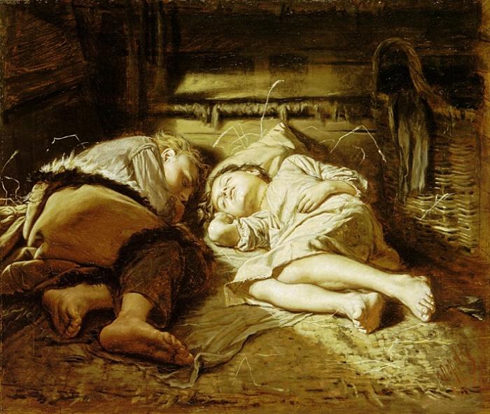 Кровати стали повсеместно появляться в деревнях только в начале 20 века, а до этого чаще всего спали на полу. /Фото: k-a-r-t-i-n-a.ru