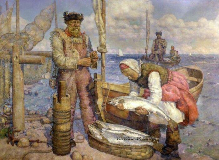 Имена отражали род занятий: в семье рыбака могли жить Карась и Щука. /Фото: i.pinimg.com