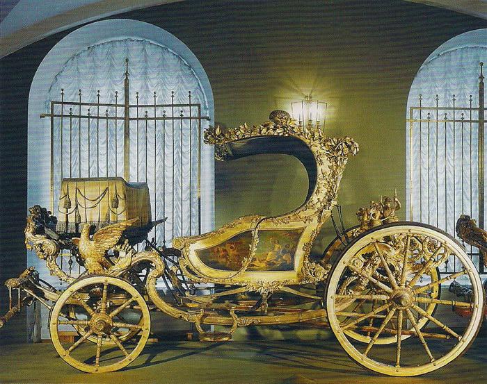 Коляска Екатерины II, подарок Орлова./Фото: armoryhall.ru