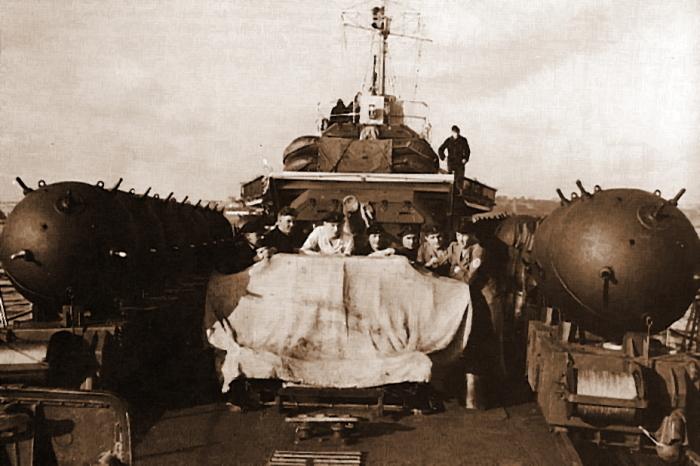 Морские мины Первой мировой. /Фото: warspot-asset.s3.amazonaws.com