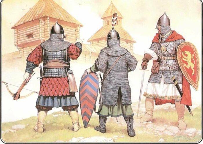 Воины в доспехах. /Фото: i.pinimg.com