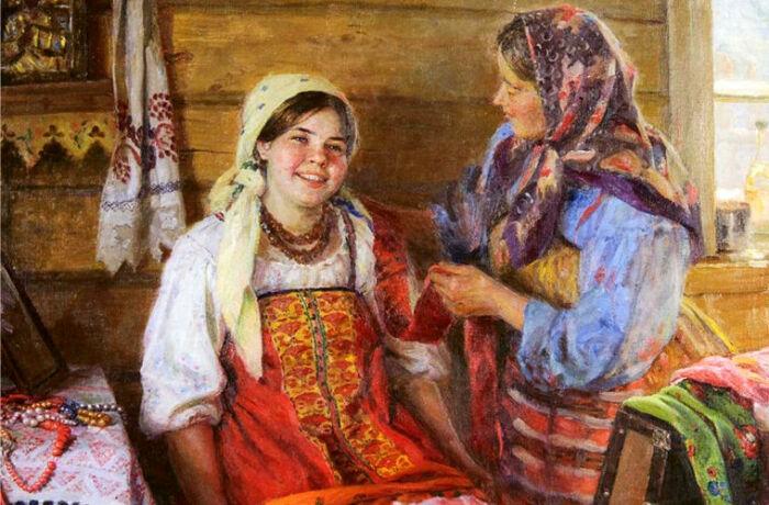 Крестьянки могли называть друг друга девками, не имея в виду ничего плохого. /Фото: trpro.net