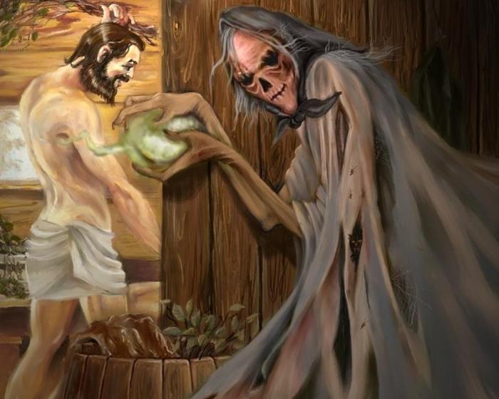 Обдериха – злой банный дух, способный содрать с человека кожу. /Фото: asbest-gid.ru