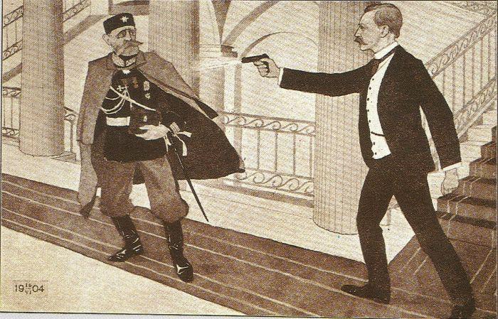 Убийство генерал-губернатора Николая Бобрикова./Фото: upload.wikimedia.org
