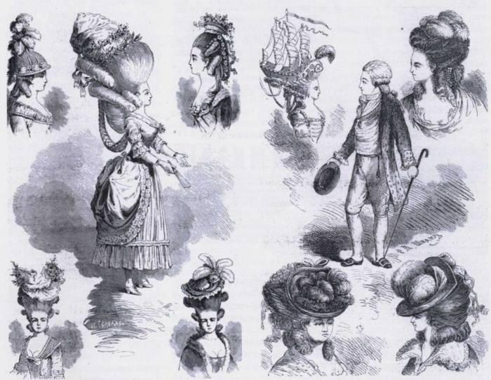«Щеголиха на гулянье». Иллюстрации первого журнала для дам./Фото: vesti.dp.ua