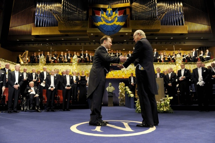 Церемония вручения Нобелевской премии./Фото: pbs.twimg.com