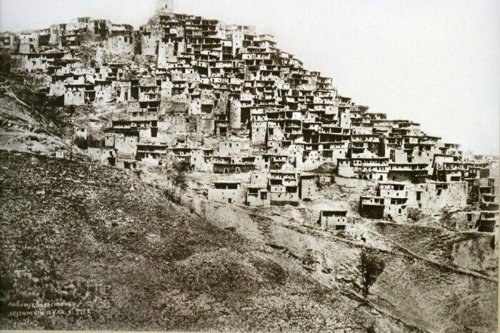 Дагестанский аул 19 века. /Фото: i.pinimg.com