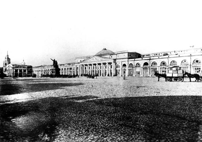 Территория современного ГУМа испокон веков была главным местом московской торговли./Фото: pp.userapi.com