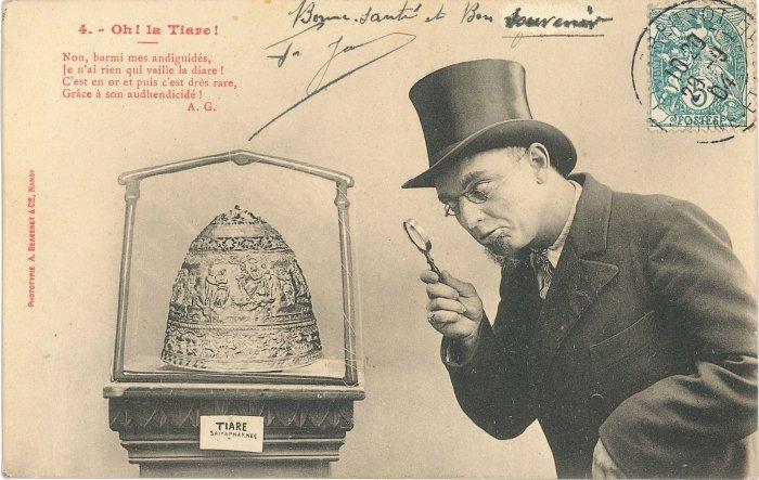 Карикатура к новости о разоблачении во французской газете. /Фото: upload.wikimedia.org