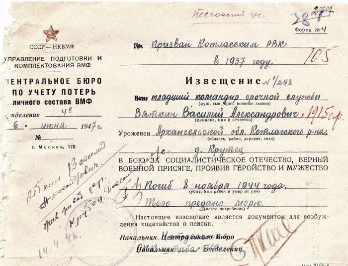Форма №4 имела официальное определение: «Извещение о смерти военнослужащего». /Фото: cdnimg.rg.ru