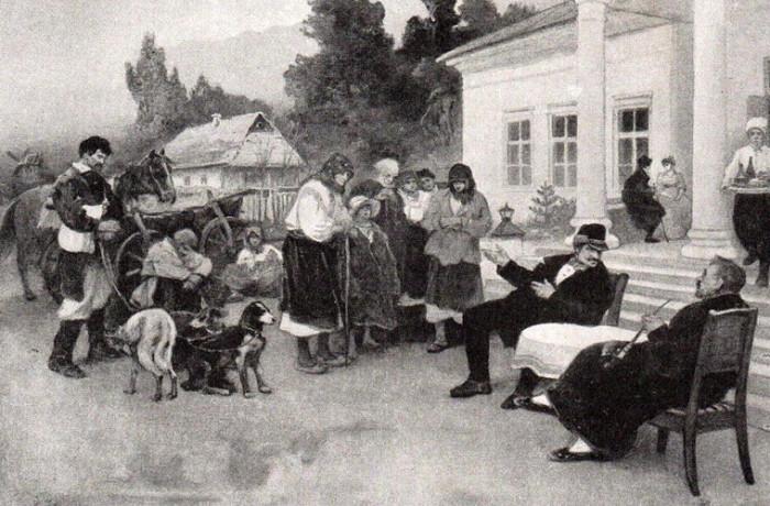 И. Ижакевич. Крепостных меняют на собак./Фото: homsk.com