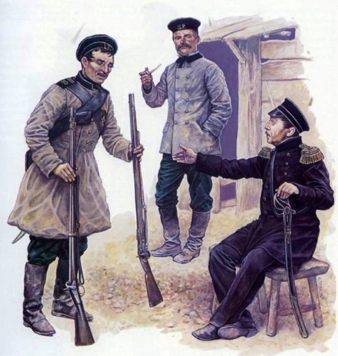 Петр Кошка и адмирал Нахимов./Фото: i.mycdn.me