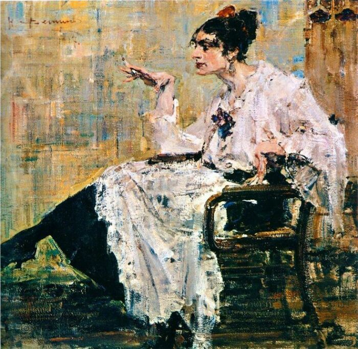 «Женщина с сигаретой». /Фото: i.pinimg.com