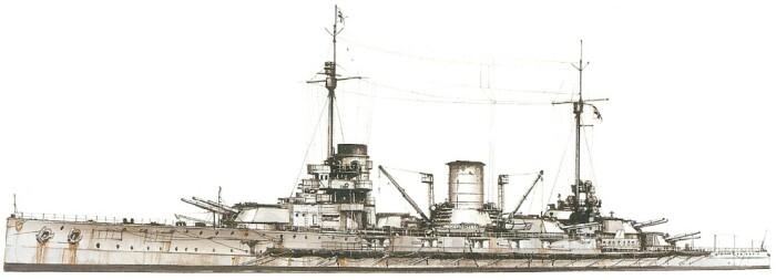 Немецкий линейный крейсер «Мольтке». /Фото: war-book.ru