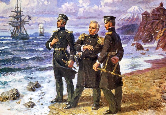 Соратники: Лазарев, Нахимов и Путятин. /Фото: voenflot.ru