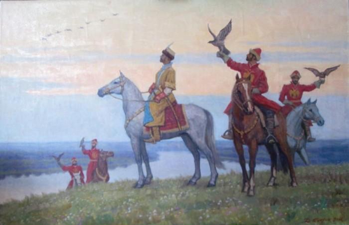 Алексей Михайлович был большим любителем соколиной охоты./Фото: nethistory.su