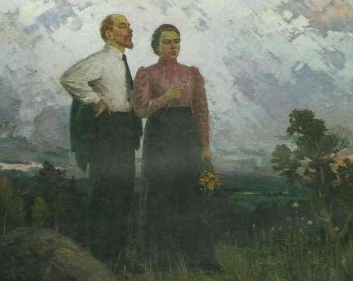 Ленин и Крупская в Шушенском./Фото: 3.bp.blogspot.com