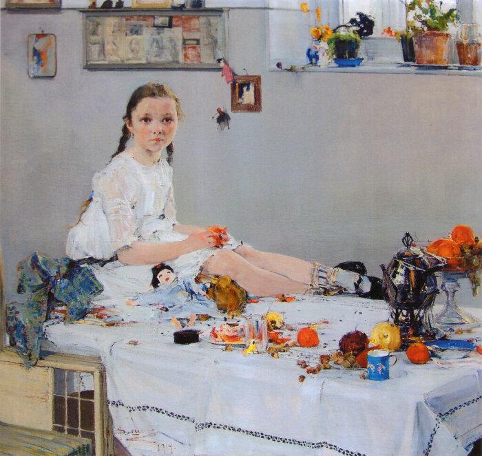 «Портрет Вари Адоратской», 1914. /Фото: img-fotki.yandex.ru