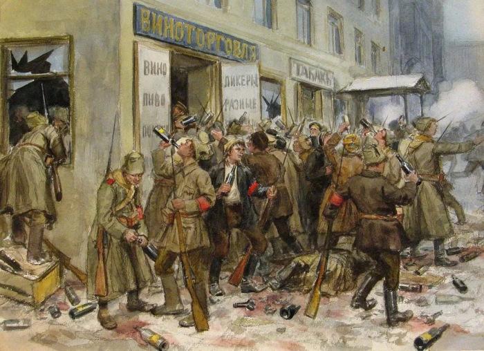 Винные погромы 1917-го. /Фото: a.d-cd.net