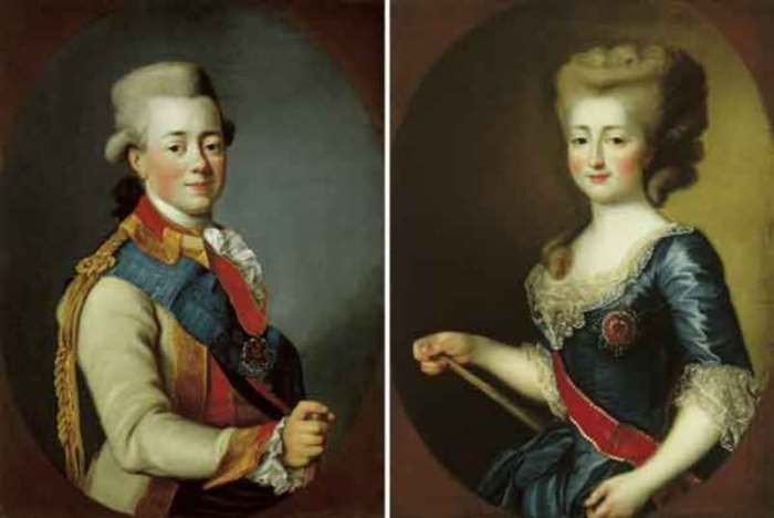 Портреты Павла и Софии Доротеи./Фото: img-fotki.yandex.ru