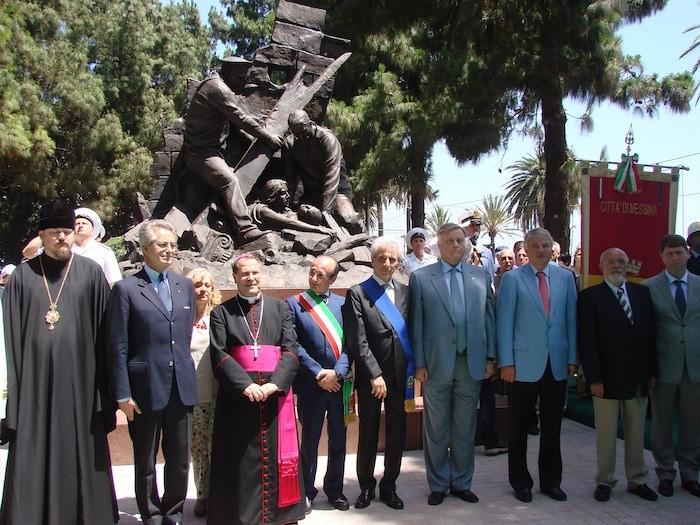 Открытие памятника русским морякам в Мессине, 2012 год./Фото: italia-russia-blog.info