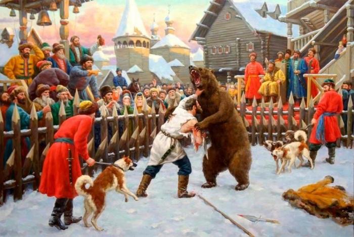 При Иване Грозном драться с медведем заставляли тех, кто прогневал царя. /Фото: yandex-images.naydex.net