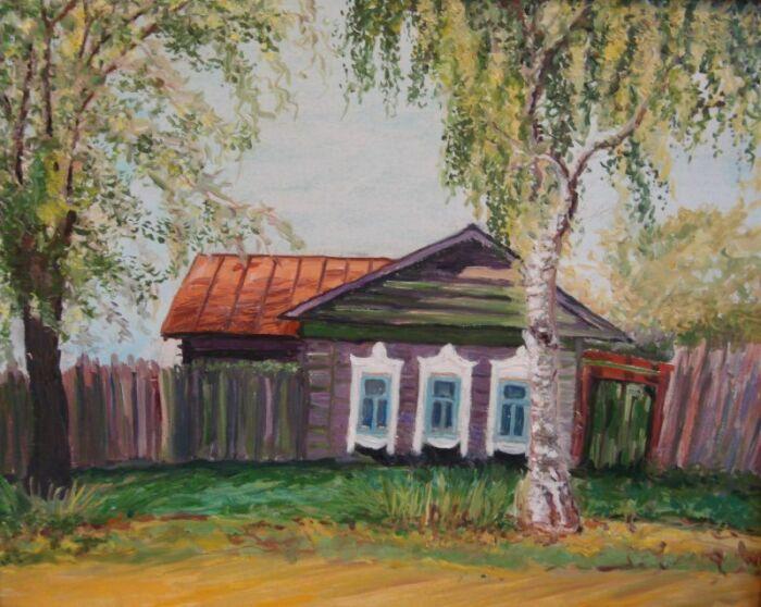 Березка у избы могла стать именным деревом. /Фото: i.arts.in.ua