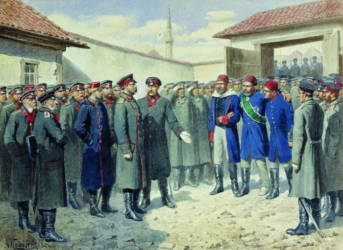 Сдача Плевны Александру II. /Фото: peoples.ru