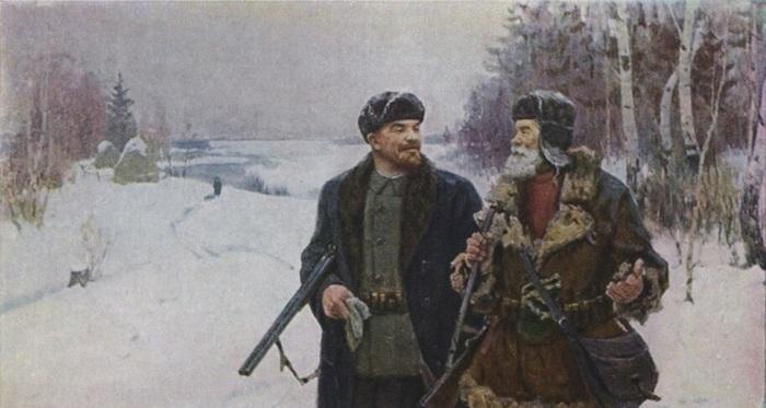 Ленин и Сосипатыч на охоте./Фото: likorg.ru