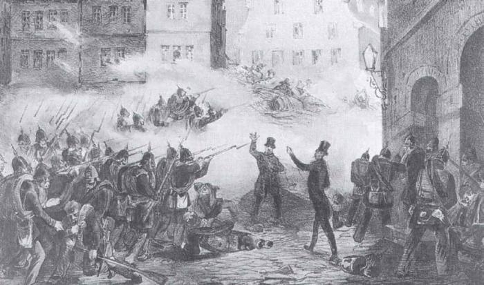 «Мартовская революция» в Германии, 1848 год./Фото: fb.ru